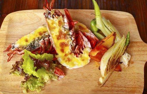 西餐作品――�h龙虾配