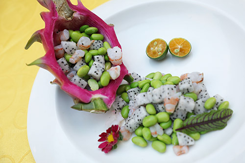 中餐作品――海鲜火龙