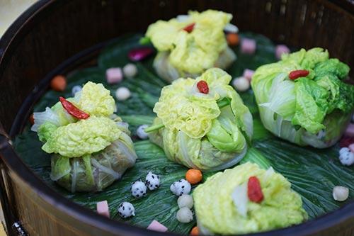 中餐作品――翡翠饺
