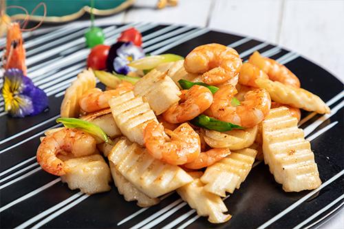 淮山炒基围虾