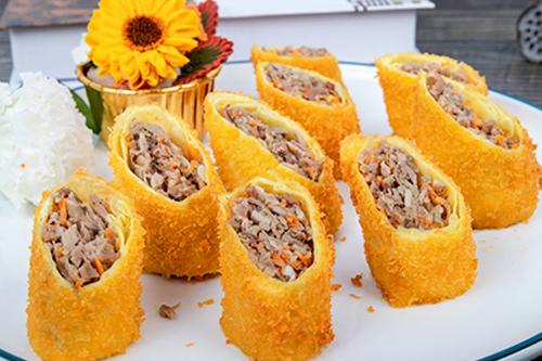 黄金烤鸭卷