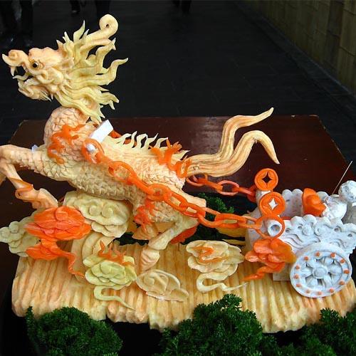 食品雕刻艺术是中国烹饪艺术的一朵奇葩,有着悠久的