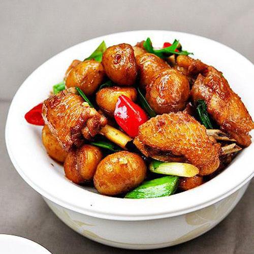 雞厨师彩色简笔画