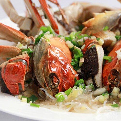 粉丝蒸螃蟹—福州新东方厨师学校推荐菜谱