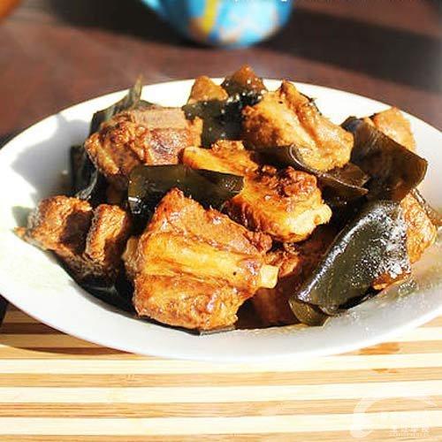 菜谱炖海带-福州新东方排骨学校推荐厨师_新东肉品检疫合格证明图片
