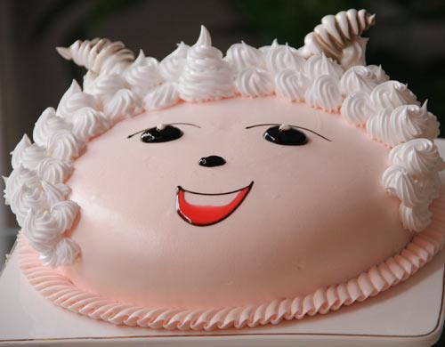 萌翻十足的懒羊羊蛋糕