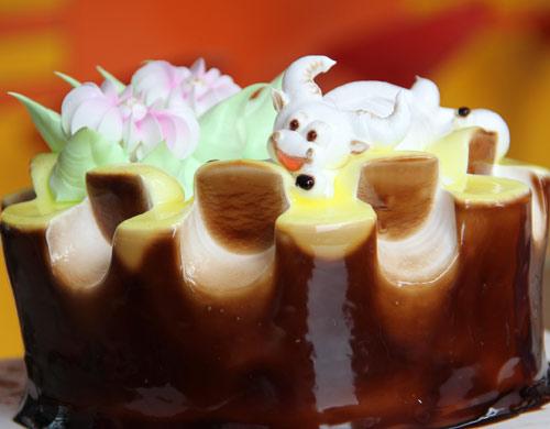 """十二生肖拜年之happy""""牛""""year 福建新东方烹饪学校西点作品"""